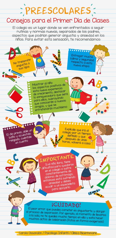 Educación Preescolar: Consejos para el primer día de clases