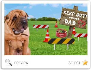 Keep Out Except Dad Father's Day dog ecard