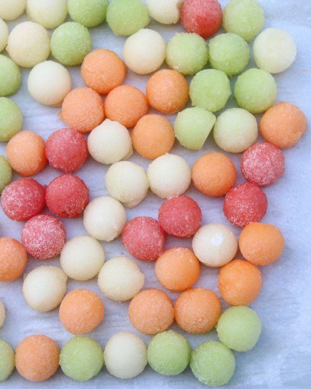 How to make make melon ball ice cubes | @laylapujol
