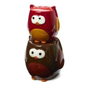 Tag Owl Salt & Pepper Shakers This set is realistically embossed owl details. They stack up on top of each other to save shelf space. http://theceramicchefknives.com/owl-salt-and-pepper-shakers/  baby shower favors, Big Sky Carvers Owl salt and pepper shakers, Cozy Owls Magnetic Ceramic Salt and Pepper Shaker Set, Cozy Owls Magnetic Salt and Pepper Shaker Set, Grasslands Road Owl in Tree Magnetic Salt and Pepper Shaker Set