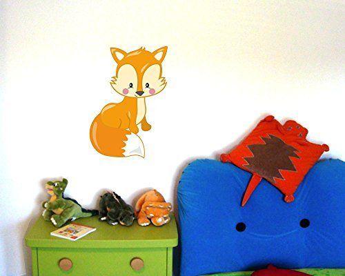 New S er Fuchs Wandtattoo Wandaufkleber Kinderzimmer in Gr en xcm mehrfarbig http