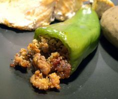 Italian Sausage and Cheese Stuffed Anaheim Peppers Recipe from Chili Pepper Madness