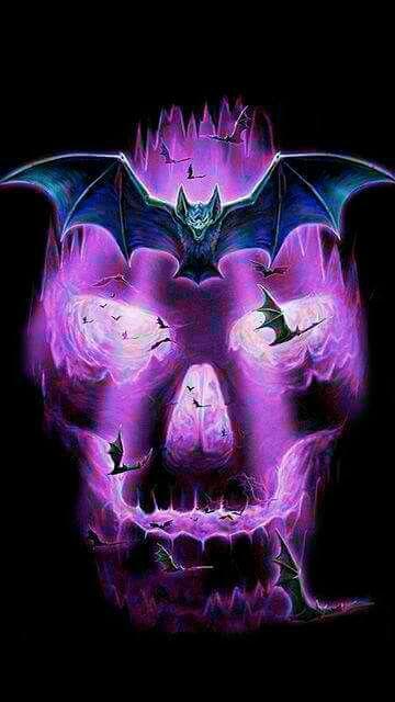 Skull and bats, bonus! | Anything skulls! | Pinterest