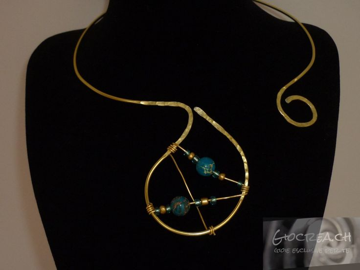 Collier oro e diaspro turchese
