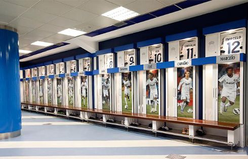 Madrid, interesting use of player images in each section