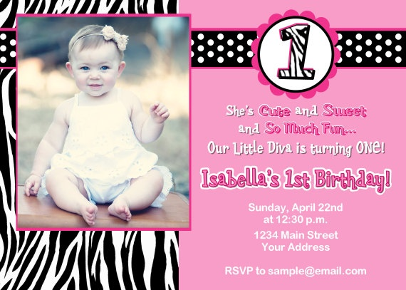 8 best callies 1st birthday party images on pinterest 1st custom diva 1st birthday invitation digital by squigglesdesigns stopboris Images