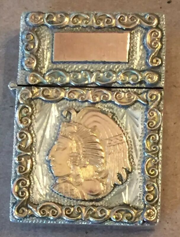 Vintage Sterling Silver Gold Design Mexico Lighter Case With Zippo Insert Cool Lighters Zippo Ebay