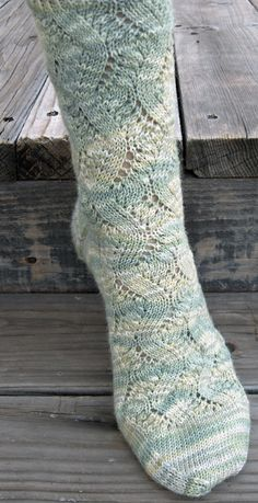 """""""Spring Forward"""" sock pattern from Knitty's Summer '08 issue. Pattern by Linda Welch."""