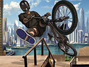 Get ready and challenge your skills in this new BMX game. There are 15 intense levels and 4 bikes for you to unlock at level 3, 6, 9 and 12. Make tricks with back and front flips and press X and C to perform super-man trick or thail whip. Use arrow keys to steer and ride the bike. Use space to jump. Make the indicated number of points to unlock new levels. Good luck and have fun!