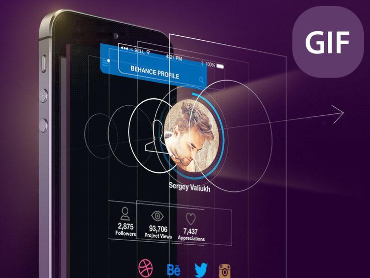 Designer screen GIF-Animation