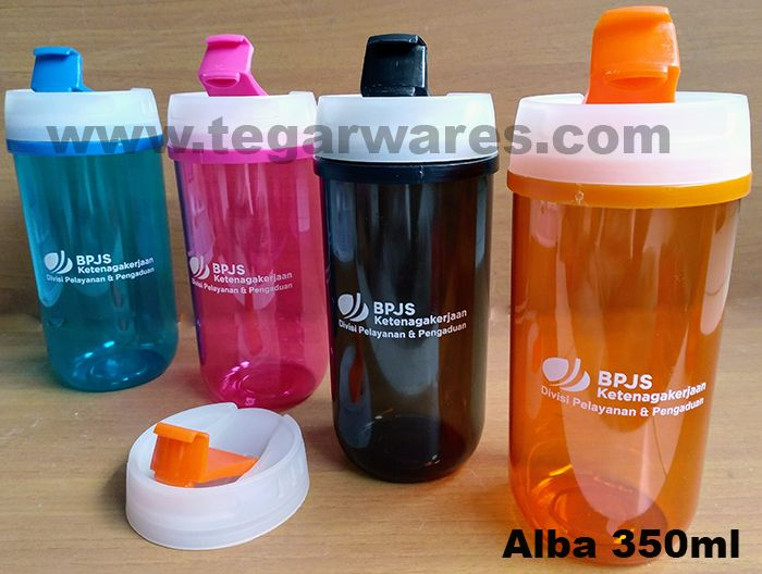 Comes in five distinct bright colors, the Alba 350ml tumbler is ideal for cafe, restaurant and hotel merchandises. That's ideal choice for is also to be used as a souvenirs for churches to share with the congregation and children for church activities. Looks picture above tumbler Alba type orange, black, blue and pink color with print one color logo. Tegarwares is a distributor and supplier agent for bottles of drinking, flask and cutlery leading for promotional purposes and corporate.