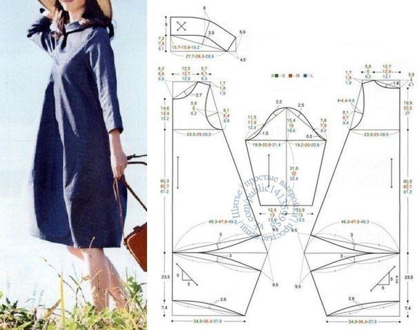Выкройка платья магдалина размеры oversize
