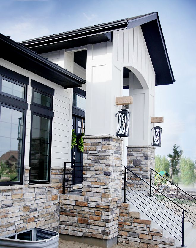 Best Architectural Inspiration Images On Pinterest - Modern exterior house design with stone