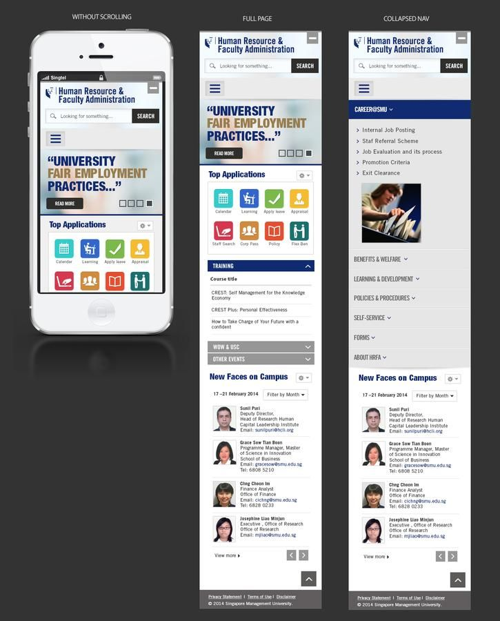 The New SMU (Southern Methodist University) Intranet design by Muhammad Nurazhan Moin.