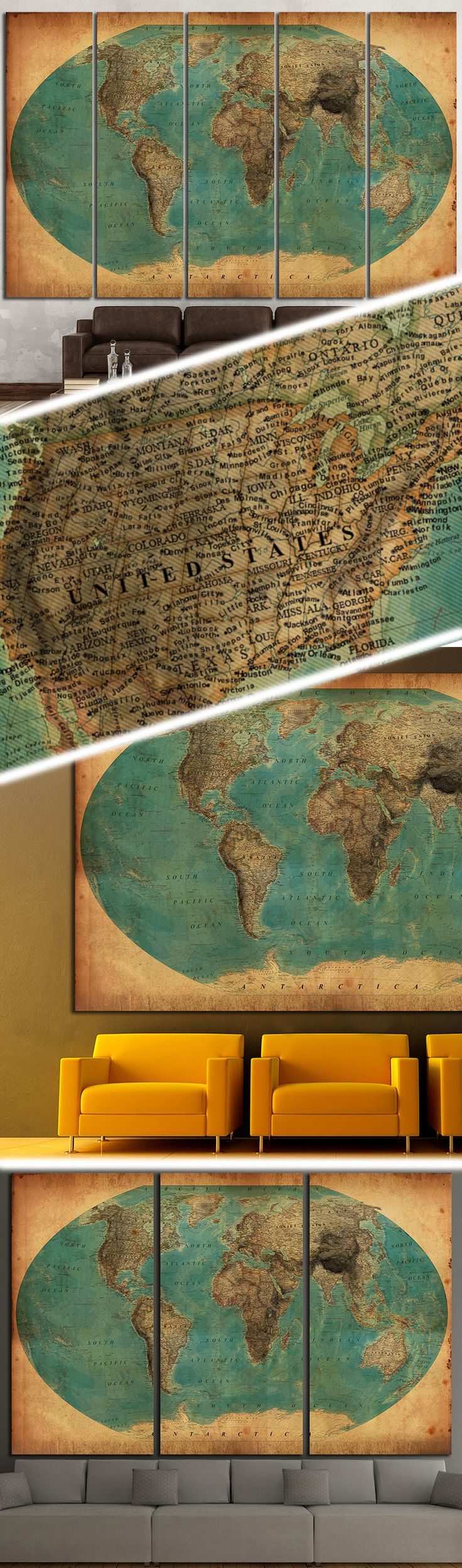 Old World Map 1458 Canvas Print 170
