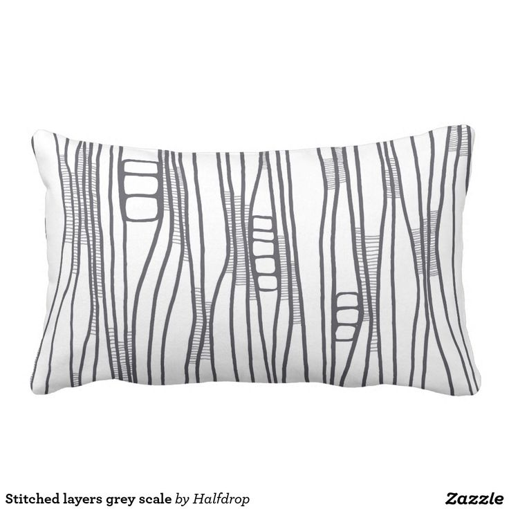 Stitched layers grey scale pillow