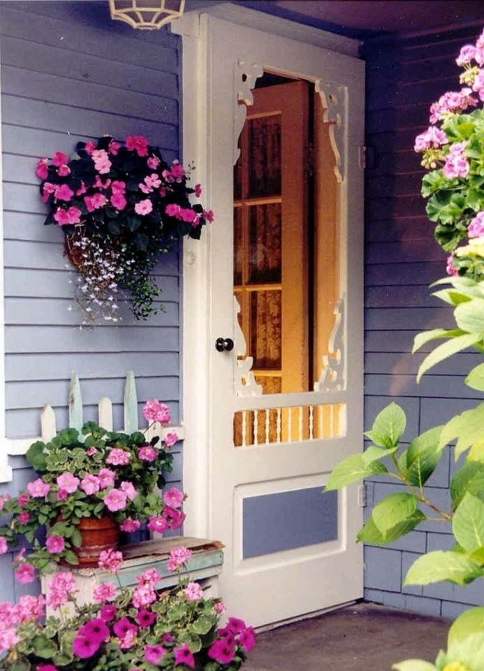 92 best porches come sit with me images on pinterest Cottage porch decorating ideas
