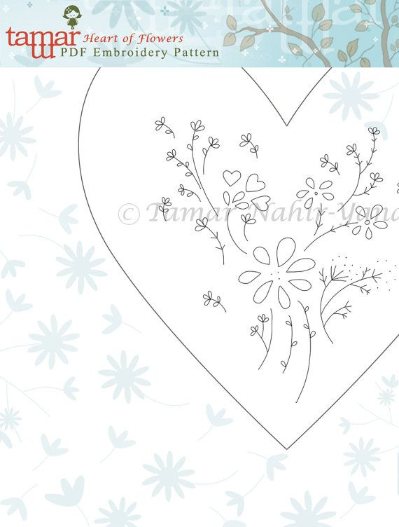 Embroidery Pattern Valentines day Instant by TamarNahirYanai