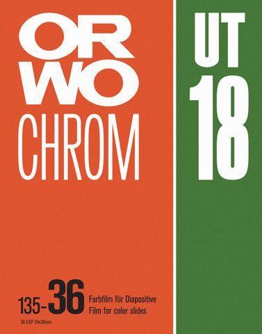 ORWO Chrom UT18 Vintage Photo Film Screenprint