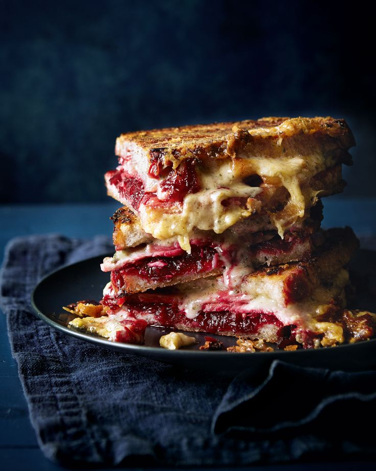 A comfort food favourite; this oozing toastie tower of wonder – made with cheese, ham and a homemade beetroot chutney – is snack time royalty.