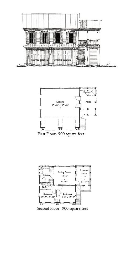 Garage Apartment Plan 73827 Upper Living Area 900 Sq Ft With 2 Bedrooms 1 Bathroom Garageapartment Carriag