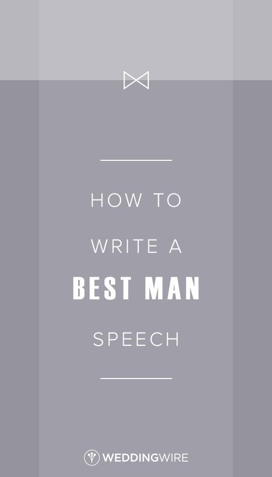 how to write a wedding speech best man Who gives the speeches it's traditional for speeches to be given at the wedding reception the father of the bride should give his speech first, followed by the groom's speech, and finally the best man's speech.