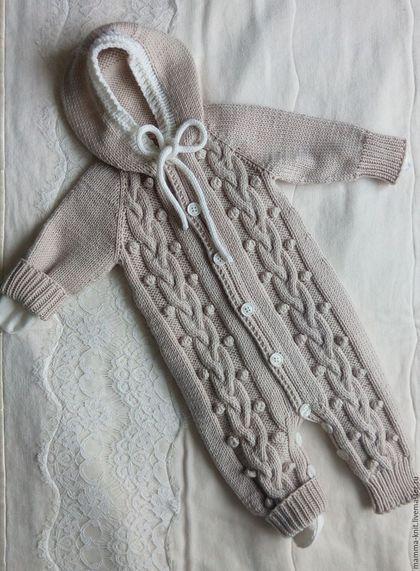 Одежда ручной работы. Комбинезон для новорожденного. Оксана (mamma_knit). Интернет-магазин Ярмарка Мастеров. Детский комбинезон, для новорожденных, наряд для девочки