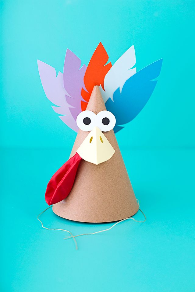 Turkey Party Hats | like-the-cheese.com for Silhouette