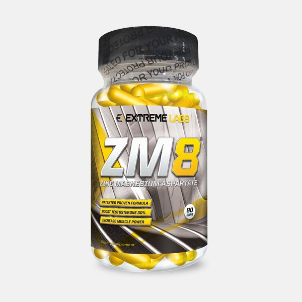 Extreme Labs ZM8 is the ultimate ZMA® formulation boosting testosterone and accelerating recovery after a workout. The unique ratios of key ingredients make Extreme Labs ZM8 one of the most bioavailable products in it's class.
