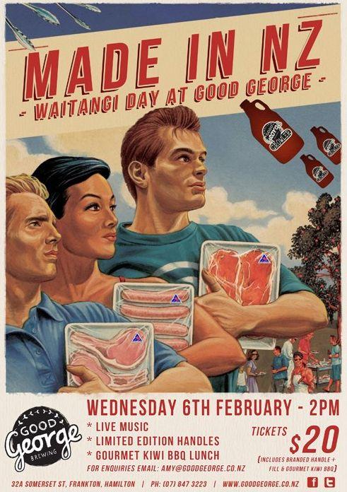 Waitangi Day. Good George, Hamilton New Zealand