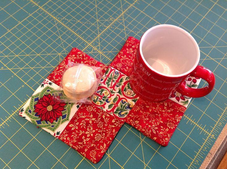 Mug Rag with Christmas fabric