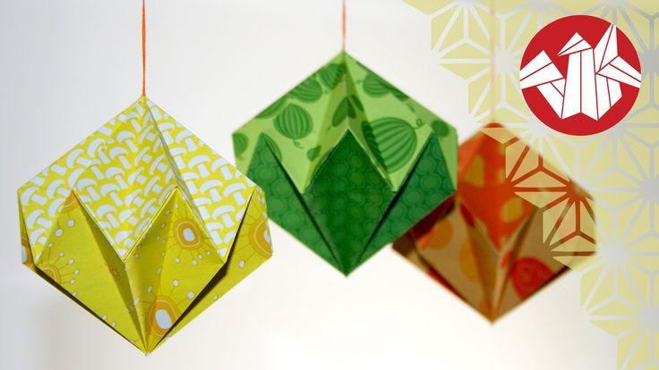 Tuto Origami - Diamant de papier [Senbazuru]