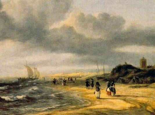 "Jacob Van Ruisdael, ""Egmond-aan-Zee"" (années 1670), National Gallery, Londres"