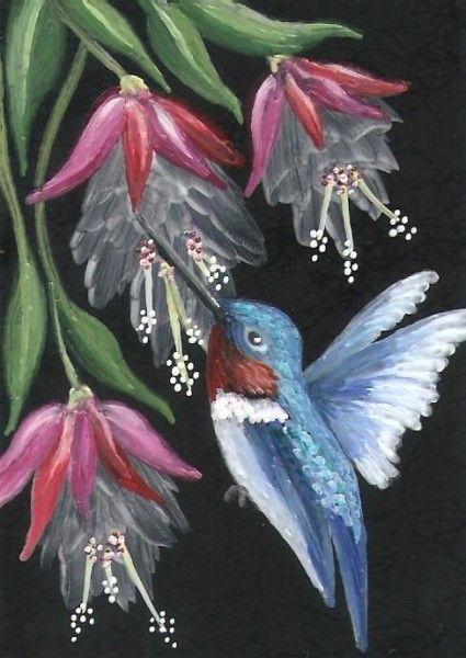 Humming Bird ( Aceo Card 2.5 x 3.5 )