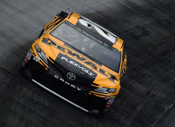 Matt Kenseth driver of the DeWalt Toyota drives during practice for the Monster Energy NASCAR Cup Series Food City 500 at Bristol Motor Speedway on...