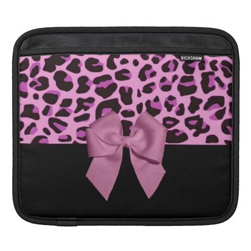 Pink Leopard Print with Bow Sleeves For iPads by elenaind