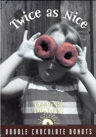 Twice as nice, Double choc donuts!  {Original Foods poster}
