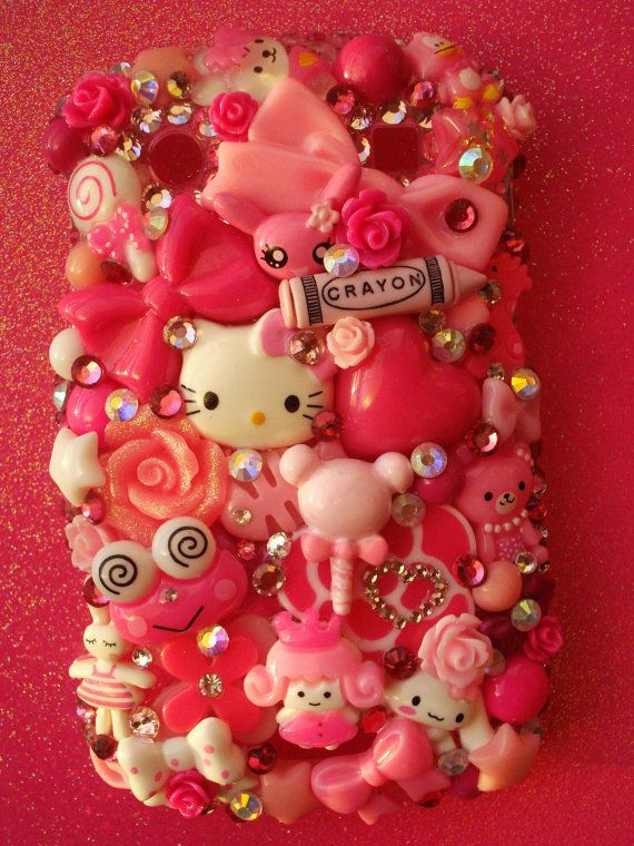 Kawaii Pink Blackberry 9900 9930 Decoden Phone Case by LUXYLOLI, $80.00