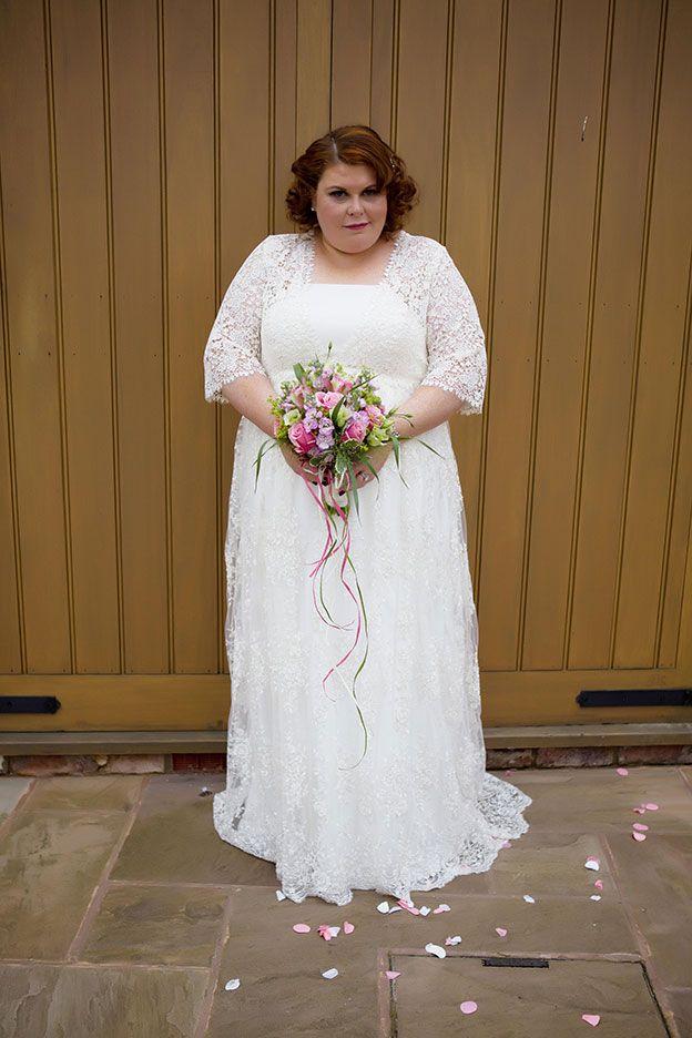 Melanie and Martin's Real life wedding at Curradine Barns - Melanie's dress | CHWV