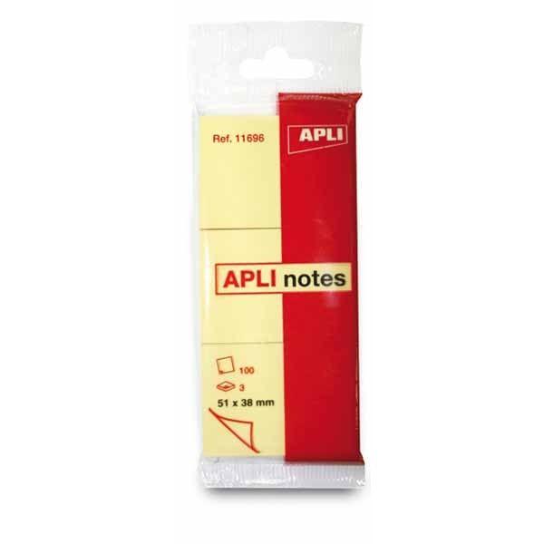 Comprar 3 Bloc Notas Adhesivas en Blister 38 x 51 mm Apli 11696  #oficina #tienda #notas #indices #adhesivas #colores #rollo #bloc #taco