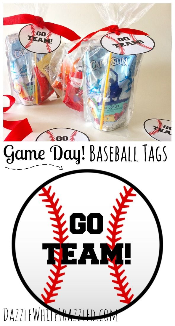 Don't strike out! Free printable baseball tags for kids game day baseball team snacks. DIY kids baseball team goodie bag ideas.