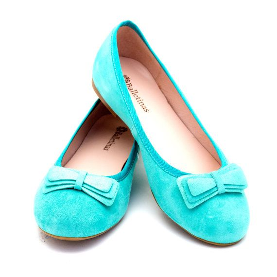 Balletina Flats Bua Ballerinas Pumps Leather Ballet Shoes Coral Sand Black Aquamarine Gold, handmade with genuine suede leather.