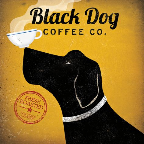 Black Dog Coffee Co. Print by Ryan Fowler at Art.com. laundry room art
