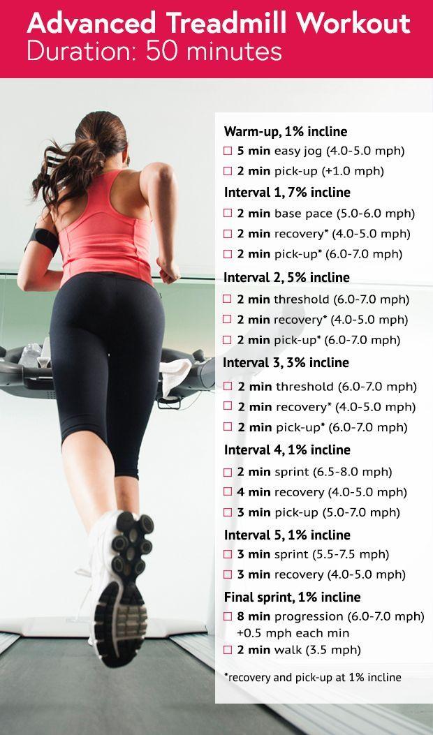 50-Minute Advanced Treadmill Workout #treadmill #running: