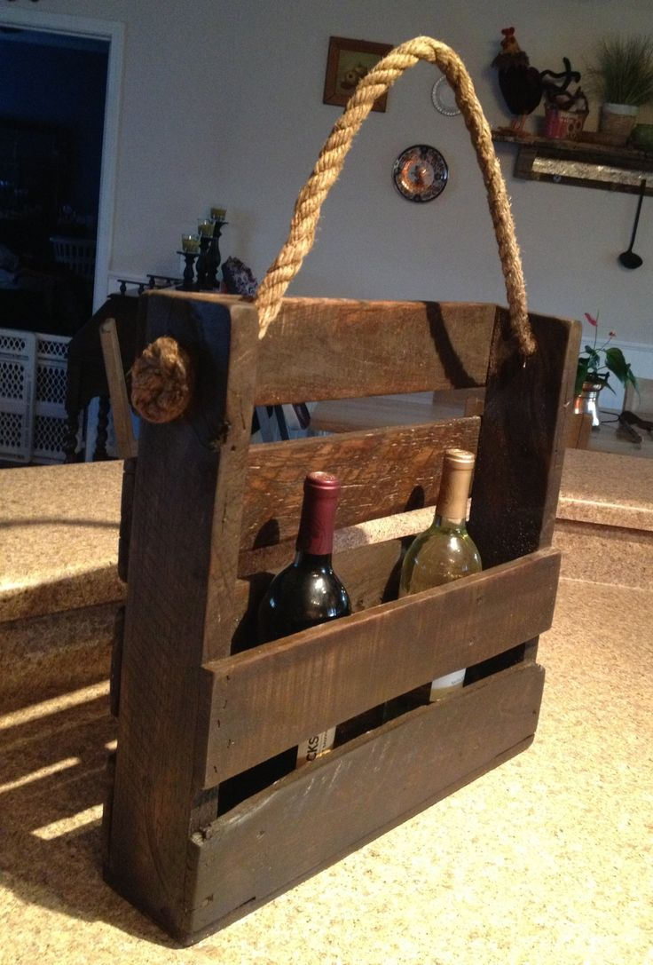 Pallet wine rack but use for decor (with something else in it) in the bathroom?