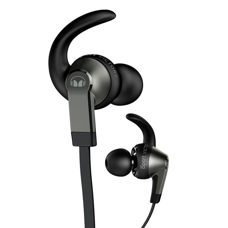 Monster iSport Victory In-Ear Headphones for iOS, Black
