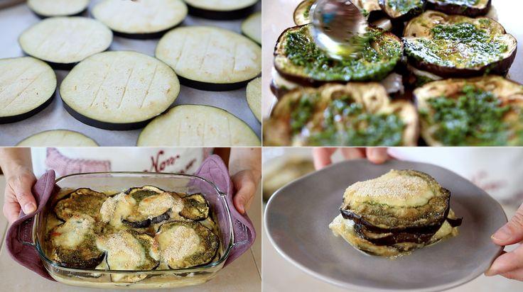 Parmigiana bianca di melanzane, ricetta facile per la parmigiana alternativa senza sugo. Vediamo come preparare le melanzane gratinate al forno