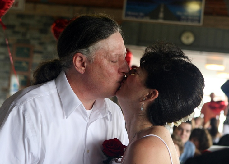 Not that he needed permission to kiss the bride...