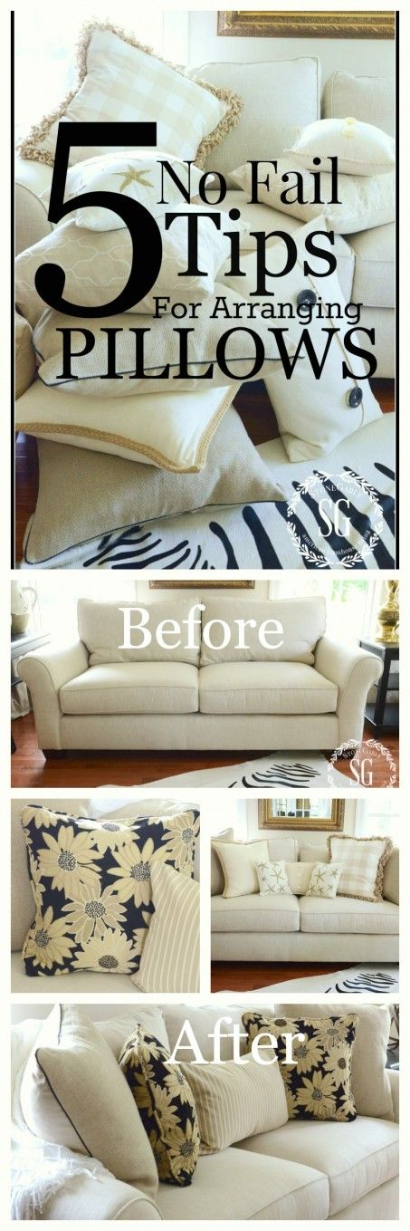 5 NO FAIL TIPS FOR ARRANGING PILLOWS  get it right and beautiful every time stonegableblog.com