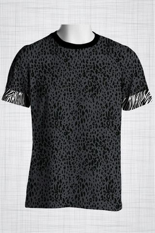 Plus Size Men's Clothing Leopard print t-shirt  Wild Grunge Collection - Plus size men's clothing Fabric for this t-shirt is a lightweight polyester cotton fabric that,  * absorbs moisture  * transfers body perspiration away from the skin  * breathable and lightweight * tear resistant  * shrink resistant * quick drying  * comfortable